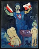 Obraz do salonu artysty Edward Dwurnik pod tytułem Ojciec pił i bił