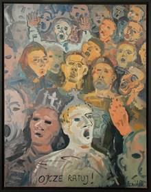 Obraz do salonu artysty Edward Dwurnik pod tytułem Ojcze ratuj!