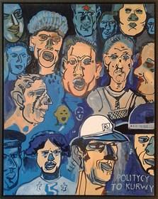 Obraz do salonu artysty Edward Dwurnik pod tytułem Politycy to kurwy