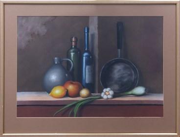 Obraz do salonu artysty Marian Michalik pod tytułem Martwa natura z patelnią