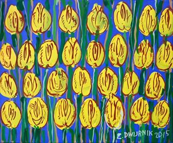Obraz do salonu artysty Edward Dwurnik pod tytułem Żółte