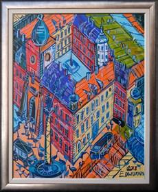 Obraz do salonu artysty Edward Dwurnik pod tytułem Plac Zamkowy I