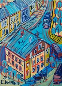 Obraz do salonu artysty Edward Dwurnik pod tytułem Jaworzno