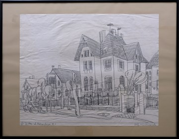 Obraz do salonu artysty Edward Dwurnik pod tytułem Ustka ul. Żeromskiego 11