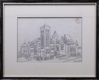 Obraz do salonu artysty Edward Dwurnik pod tytułem Architektura miejska