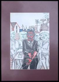 Obraz do salonu artysty Edward Dwurnik pod tytułem Bez tytułu 2