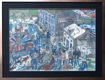 Obraz do salonu artysty Edward Dwurnik pod tytułem Konstancin-Jeziorna