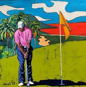 Obraz do salonu artysty David Schab pod tytułem Golfista