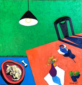 Living room painting by David Schab titled  Green room