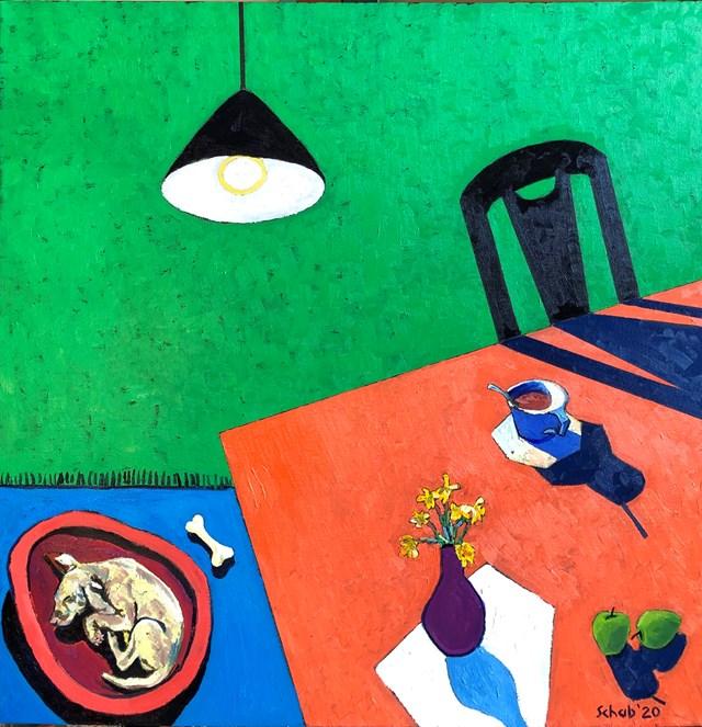 Obraz do salonu artysty David Schab pod tytułem Zielony pokój