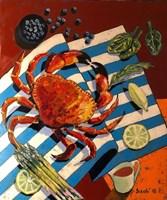 Obraz do salonu artysty David Schab pod tytułem Martwa natura z krabem