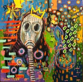 Obraz do salonu artysty David Schab pod tytułem Coronavirus
