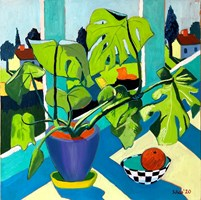 Living room painting by David Schab titled Still life