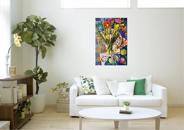 Still life with flowers on the Marta's chair  - wizualizacja pracy autora David Schab
