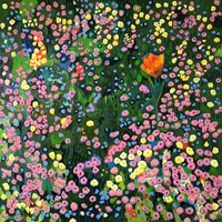 Living room painting by David Schab titled  Exception to the rule. Meadow