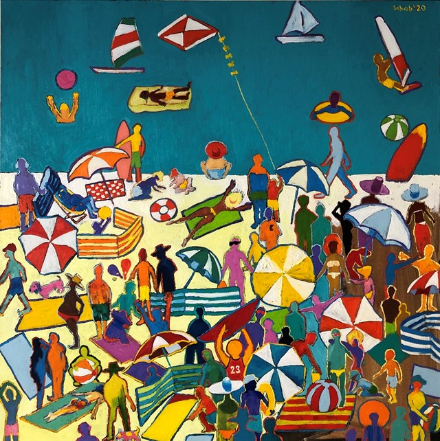 Obraz do salonu artysty David Schab pod tytułem Plaża