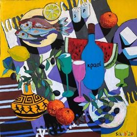 Obraz do salonu artysty David Schab pod tytułem Grecki obiad