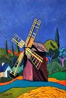Obraz do salonu artysty David Schab pod tytułem Czerwony wiatrak