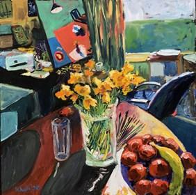 Obraz do salonu artysty David Schab pod tytułem Pracownia artysty