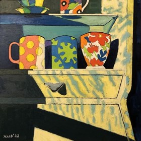 Living room painting by David Schab titled Cupboard
