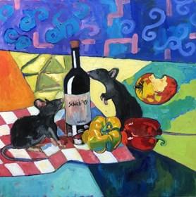 Obraz do salonu artysty David Schab pod tytułem Szczury