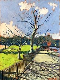 Obraz do salonu artysty David Schab pod tytułem Park w Easton, Bristol