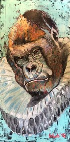 Living room painting by David Schab titled King Kong