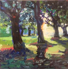 Living room painting by David Schab titled In park