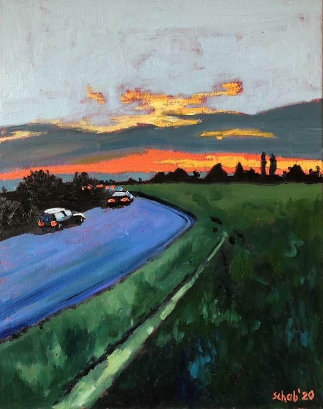 Obraz do salonu artysty David Schab pod tytułem Kierunek zachód