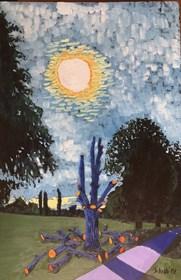 Obraz do salonu artysty David Schab pod tytułem Niebieskie drzewo