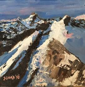 Obraz do salonu artysty David Schab pod tytułem Szczyty