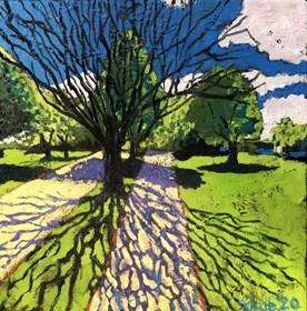 Obraz do salonu artysty David Schab pod tytułem Drzewo bez liści