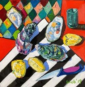 Obraz do salonu artysty David Schab pod tytułem Ostrygi