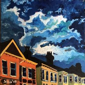 Obraz do salonu artysty David Schab pod tytułem Nocne chmury