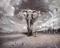 Obraz do salonu artysty Martyna Mączka pod tytułem Odwaga
