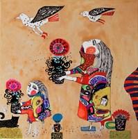 Obraz do salonu artysty Natalia Pastuszenko pod tytułem Z kwiaciarni