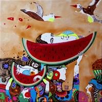 Obraz do salonu artysty Natalia Pastuszenko pod tytułem Arbuzowe dni