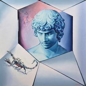 Obraz do salonu artysty Rafał Knop pod tytułem Apollo e Scorpio XXIX
