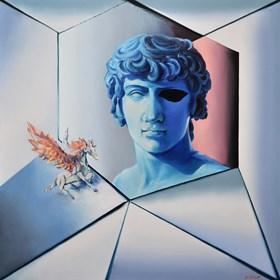 Obraz do salonu artysty Rafał Knop pod tytułem Apollo e Pegasus XXVIII