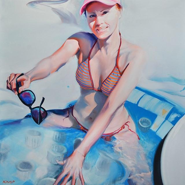 Obraz do salonu artysty Rafał Knop pod tytułem Madame Ev'17 z cyklu SWIMMING POOL