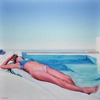 Obraz do salonu artysty Rafał Knop pod tytułem Madame Ev'15 z cyklu SWIMMING POOL