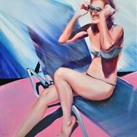 Obraz do salonu artysty Rafał Knop pod tytułem Madame Ev'19 z cyklu SWIMMING POOL
