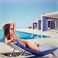 Obraz do salonu artysty Rafał Knop pod tytułem Madame VAngel 07 z cyklu SWIMMING POOL