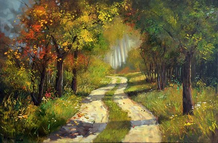Obraz do salonu artysty Magdalena Kępka pod tytułem Październikowy las