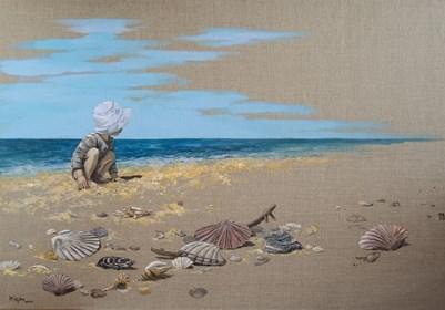 Obraz do salonu artysty Magdalena Kępka pod tytułem Magiczny świat M – poszukiwacz pereł