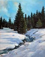 Obraz do salonu artysty Magdalena Kępka pod tytułem Orle zimą