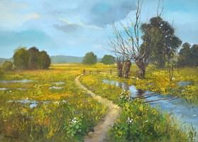 Obraz do salonu artysty Magdalena Kępka pod tytułem Wiosenne wierzby