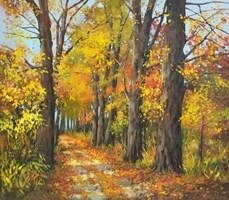 Obraz do salonu artysty Magdalena Kępka pod tytułem Jesienna aleja