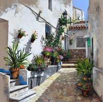 Obraz do salonu artysty Magdalena Kępka pod tytułem Słoneczne patio