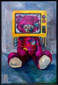 Obraz do salonu artysty Wojciech Brewka pod tytułem Elektryczny
